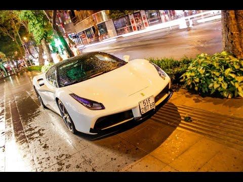 Doanh Nhân Quốc Cường Đô La và Hạ Vi xuất hiện cùng siêu xe Ferrari 488 GTB mới tậu