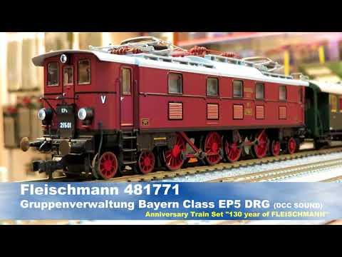 """FLEISHMANN 481771 - EP 5 """"Gruppenverwaltung Bayern , DRG DCC SOUND"""