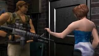 """Cutscenes 20 ( """" Exiting With Carlos """" Restaurant's Back Door 1 """" ) By Resident Evil 3 """" Nemesis """""""