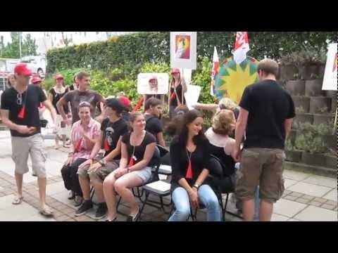 25.08.2011 - Protest Aktion beim Studiengang Förderschulpädagogik an der Uni Landau - Teil 2.