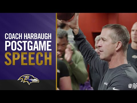 Postgame Locker Room Speech After Big Win Over Chargers   Baltimore Ravens