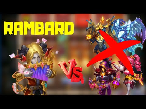 Rambard Vs Top Heroes | Castle Clash | Must Watch!!!