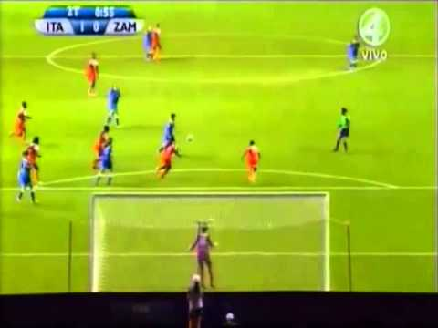 Italia 2 - Zambia 0