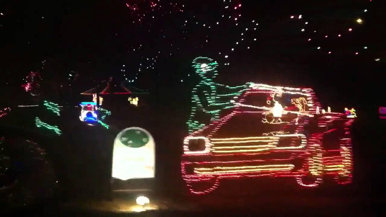 Christmas Lights in Yukon, Oklahoma - YouTube