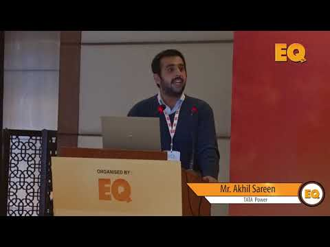 Mr. Akhil Sareen from Tata Power at EQ Solar Assets Conference, Delhi