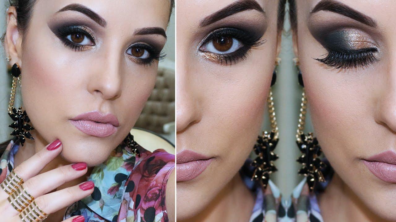 Maquiagem Festa com Paleta Malévola Vult - YouTube