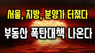 서울, 지방 분양가 터졌다. 부동산 폭탄대책 이것 나오…
