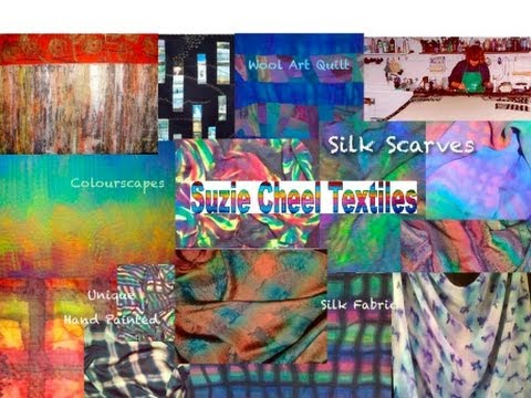 [Silk Scarves and  Art Quilts Sale] : Suzie Cheel HandPainted Originals