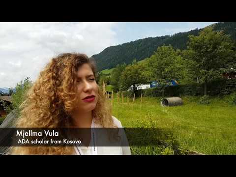 ADA scholar Mjellma Vula at the European Forum Alpbach 2017