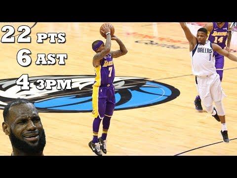 Isaiah Thomas INSANE LAKERS DEBUT!! 22 PTS 6 AST | Mavs vs Lakers!