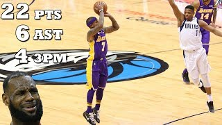 Isaiah Thomas INSANE LAKERS DEBUT!! 22 PTS 6 AST | Mavs vs Lakers!