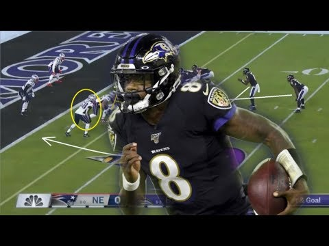Film Study: How Lamar Jackson Ran All Over The New England Patriots Defense