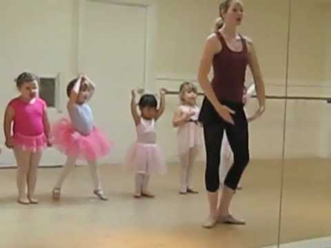 3 Year old Kaitlyn's first Ballet, Tap and Acrobatic class