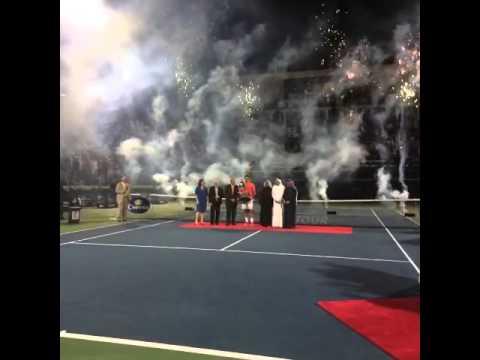 Tournoi ATP Dubai   Roger Federer et son 78ème Trophée 2014/03/01