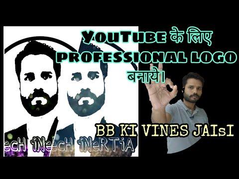 Make your face logo design l PicsArt editing tutorial l professional logo  for YouTube thumbnail