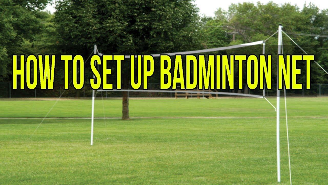 How To Set Up Badminton Net Youtube