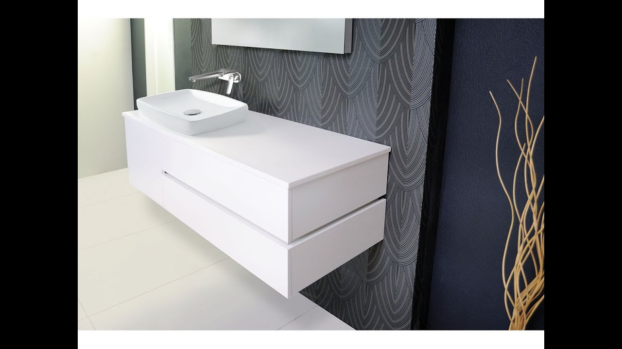 Wall Hung Vanity Units for Bathroom Online - YouTube