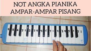Gambar cover NOT ANGKA PIANIKA AMPAR-AMPAR PISANG -Belajar bermain pianika-