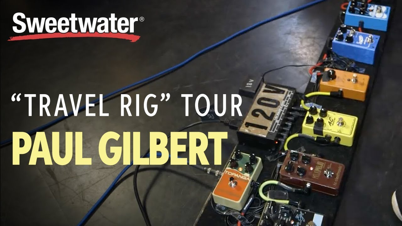 paul gilbert 39 s guitar travel rig tour youtube. Black Bedroom Furniture Sets. Home Design Ideas