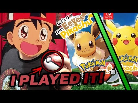 REVIEW: I Played Pokemon LET'S GO EEVEE and LET'S GO PIKACHU Early! E3 Demo!
