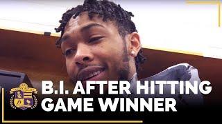 Brandon Ingram After Hitting Game-Winner Vs. Philadelphia 76ers