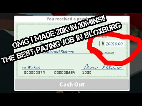 Best Paying Job In Roblox Bloxburg