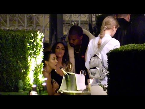 Kim Kardashian and Kanye West very intimate at Balmain after party in Paris
