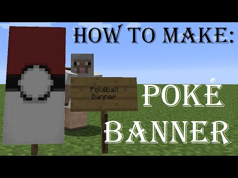Minecraft how to make a pok mon pok ball banner youtube for How do you make a blueprint