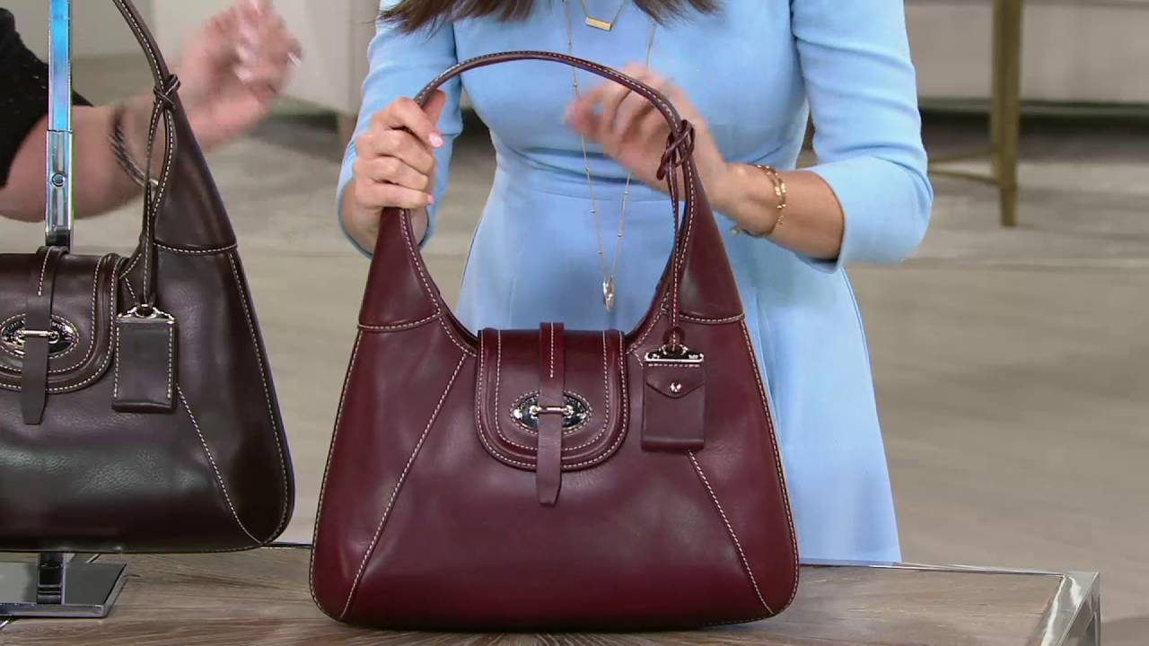 Dooney & Bourke Florentine Toscana Front Stitch Hobo Bag on QVC ...
