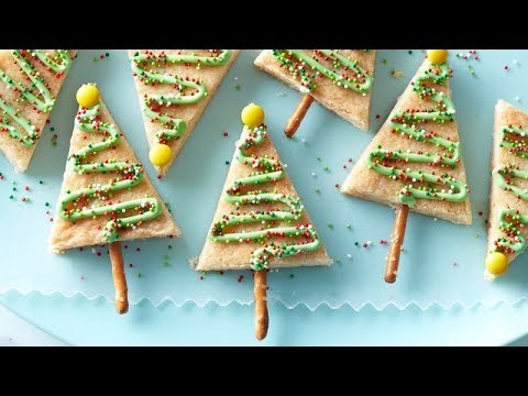 Easy Christmas Tree Cookie Bars | Betty Crocker Recipe