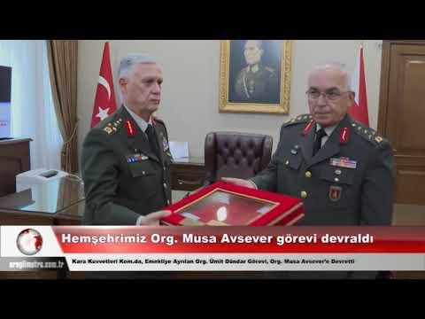Hemşehrimiz Org. Musa Avsever görevi devraldı