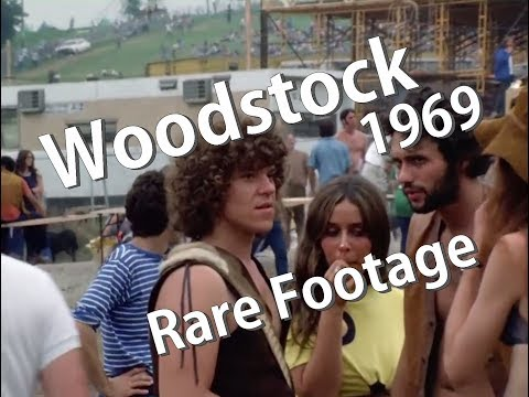 The Woodstock Music & Art Fair 1969  Rare footage without music