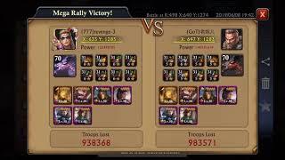 Zeroed 2x sh40 k498 KvK but then I got destroyed #opps - King of Avalon