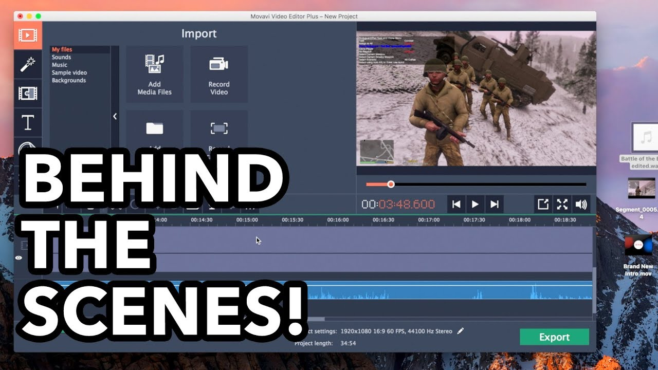 How I Make My Videos! BEHIND THE SCENES! (Movavi Video Editor Plus) Easy To  Use Video Editor 2018