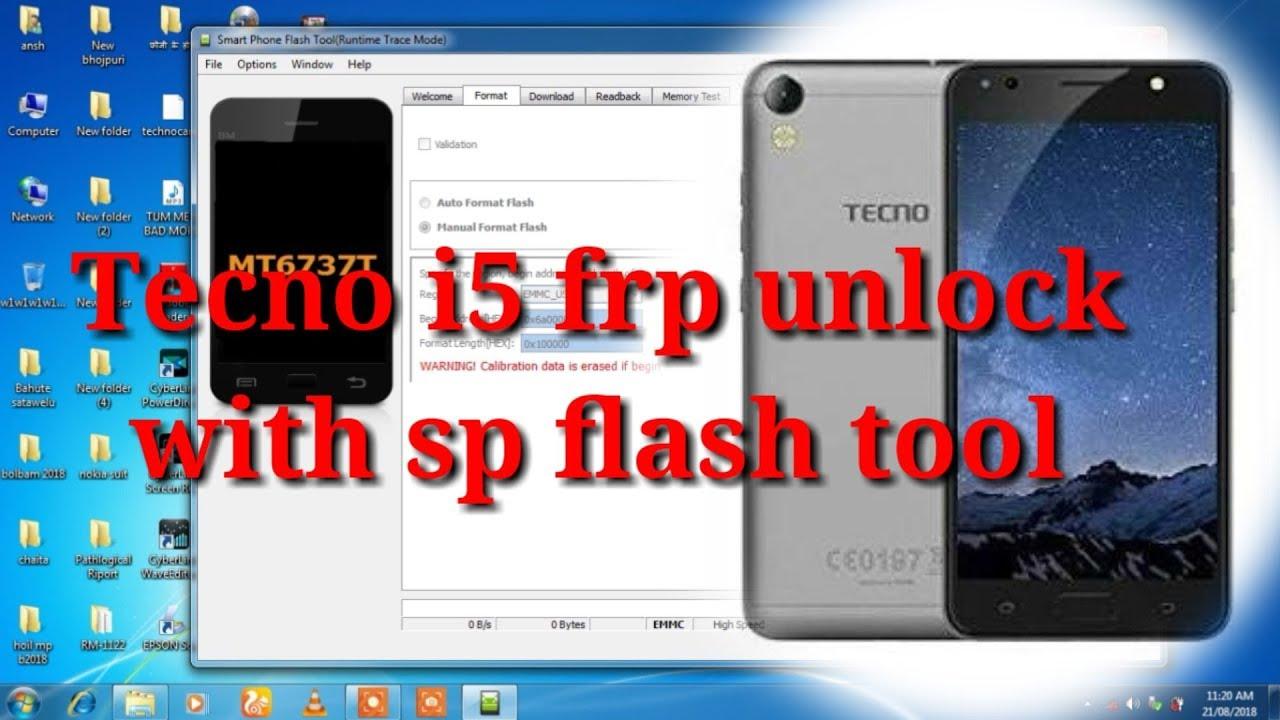 Tecno i5 frp unlock with sp flash tool