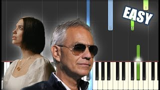 If Only - Andrea Bocelli ft. Dua Lipa EASY PIANO TUTORIAL by Betacustic