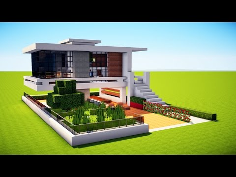 Minecraft: How to Build a Modern House - Best Mansion 2017 Tutorial [ How to Make ]