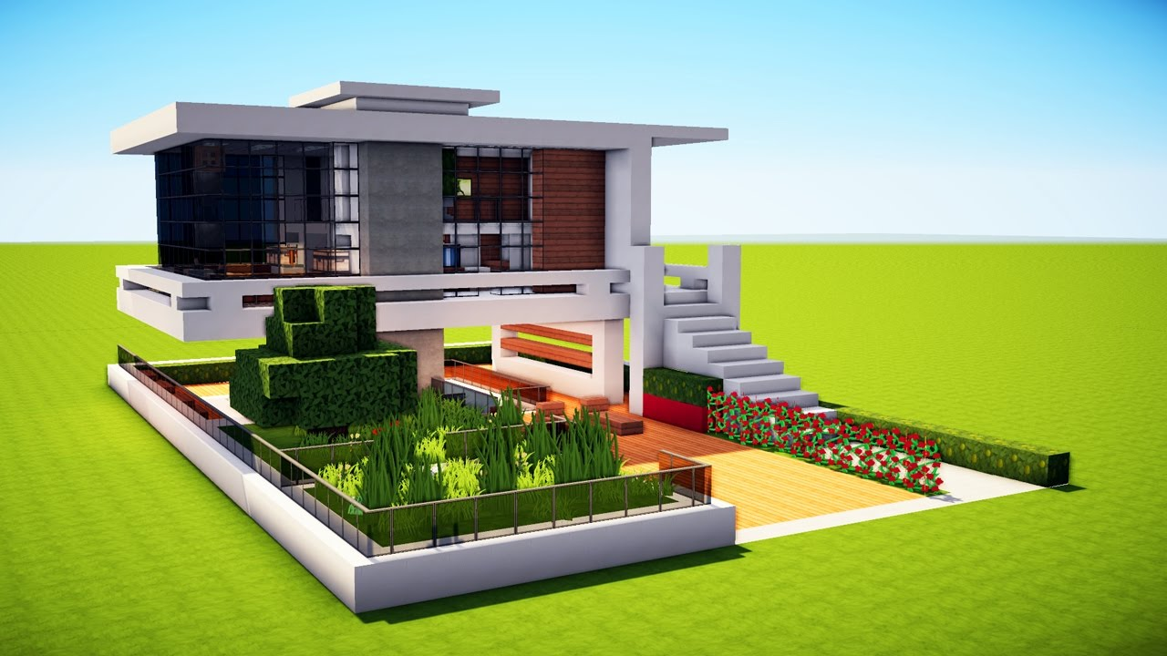 Minecraft how to build a modern house best mansion 2017 for How to build a modern home