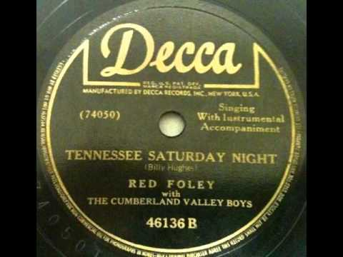 "Red Foley with The Cumberland Valley Boys ""Tennessee Saturday Night"""