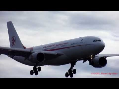 Air Algerie A330-202 (A332) arriving and departing YUL