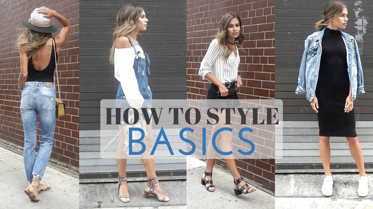 How To Style Basics Summer Basics Look Book Youtube