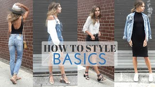 how to style basics summer basics look book