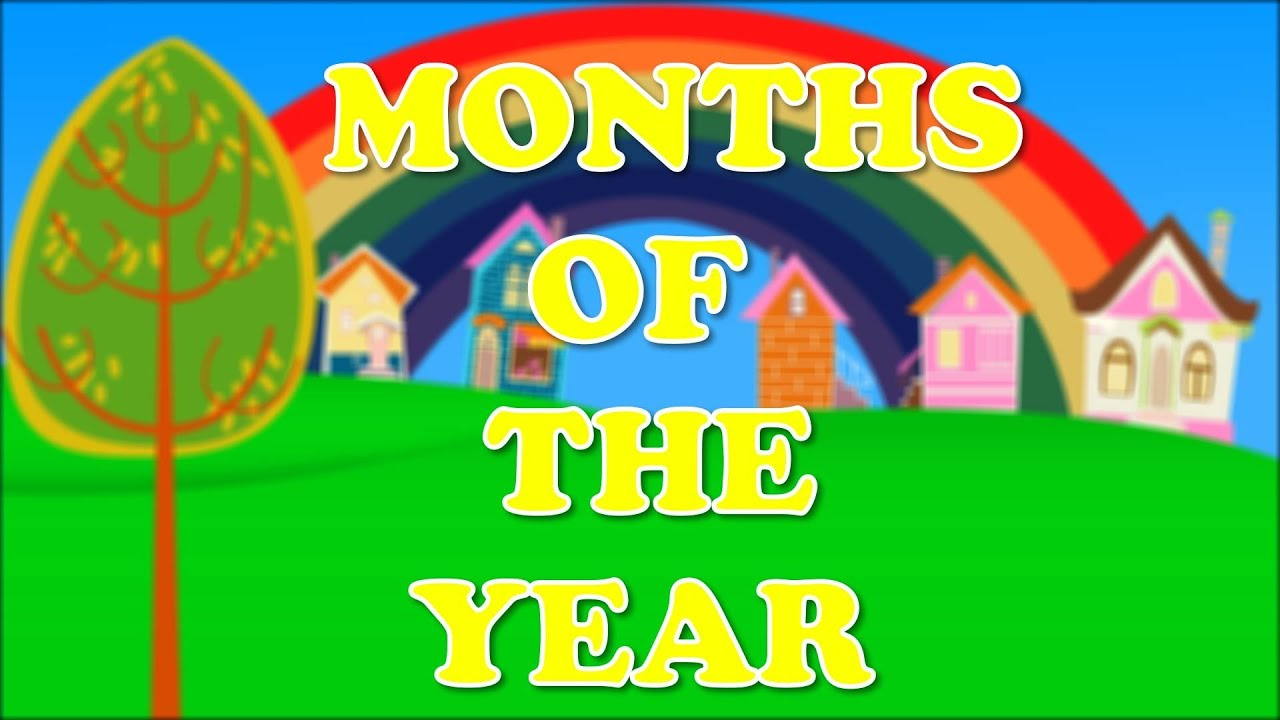 Months Of The Year Song Nursery Rhyme Youtube