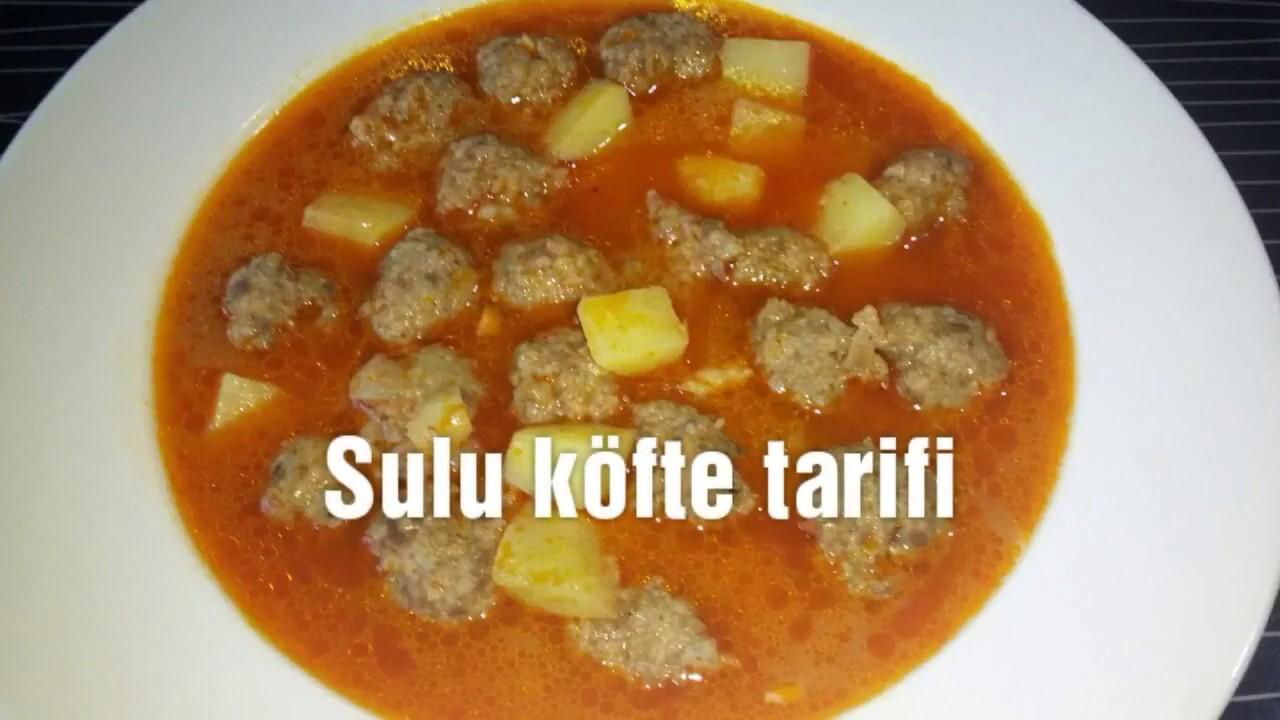 Sulu köfte tarifi   Patatesli sulu köfte yemeği nasıl yapılır