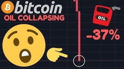 WOOW!!!!! OIL COLLAPSING -37% RIGHT NOW!!! GOOD OR BAD NEWS FOR BITCOIN & STOCKS?!!