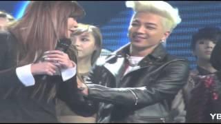 Taeyang flirting with Park Bom? [BOMBAE]