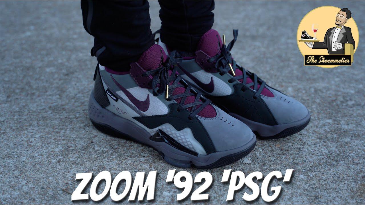 nike air jordan zoom 92 paris saint germain on feet review