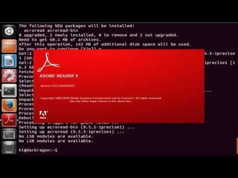 how to install adobe reader in Ubuntu