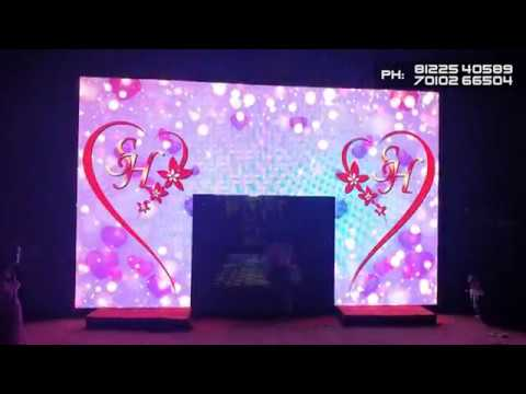 3D LED Digital Wedding Marriage Decoration Technology Chennai , Pondicherry +91 81225 40589