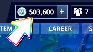 I Finally Have 500,000 V BUCKS in Fortnite Battle Royale.. (NOT Clickbait)